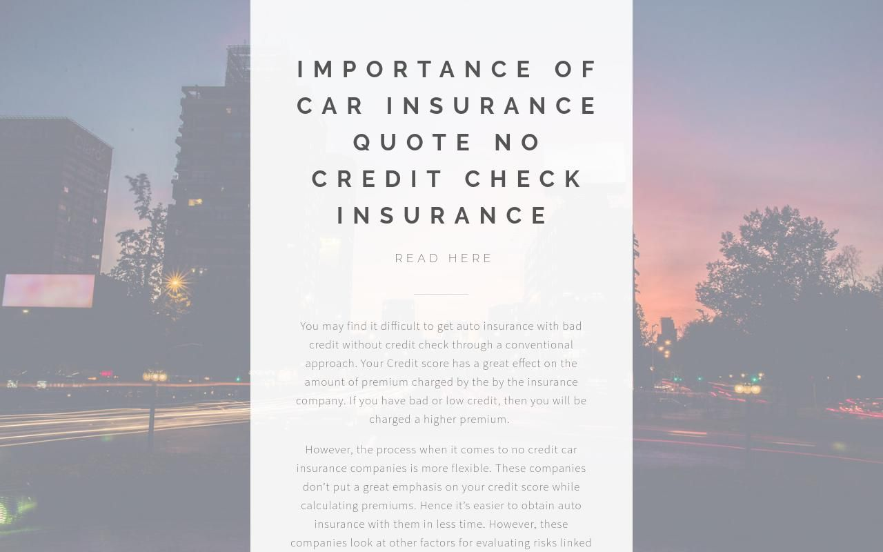 Find Best Auto Insurance Without Credit Check Credit Check Car