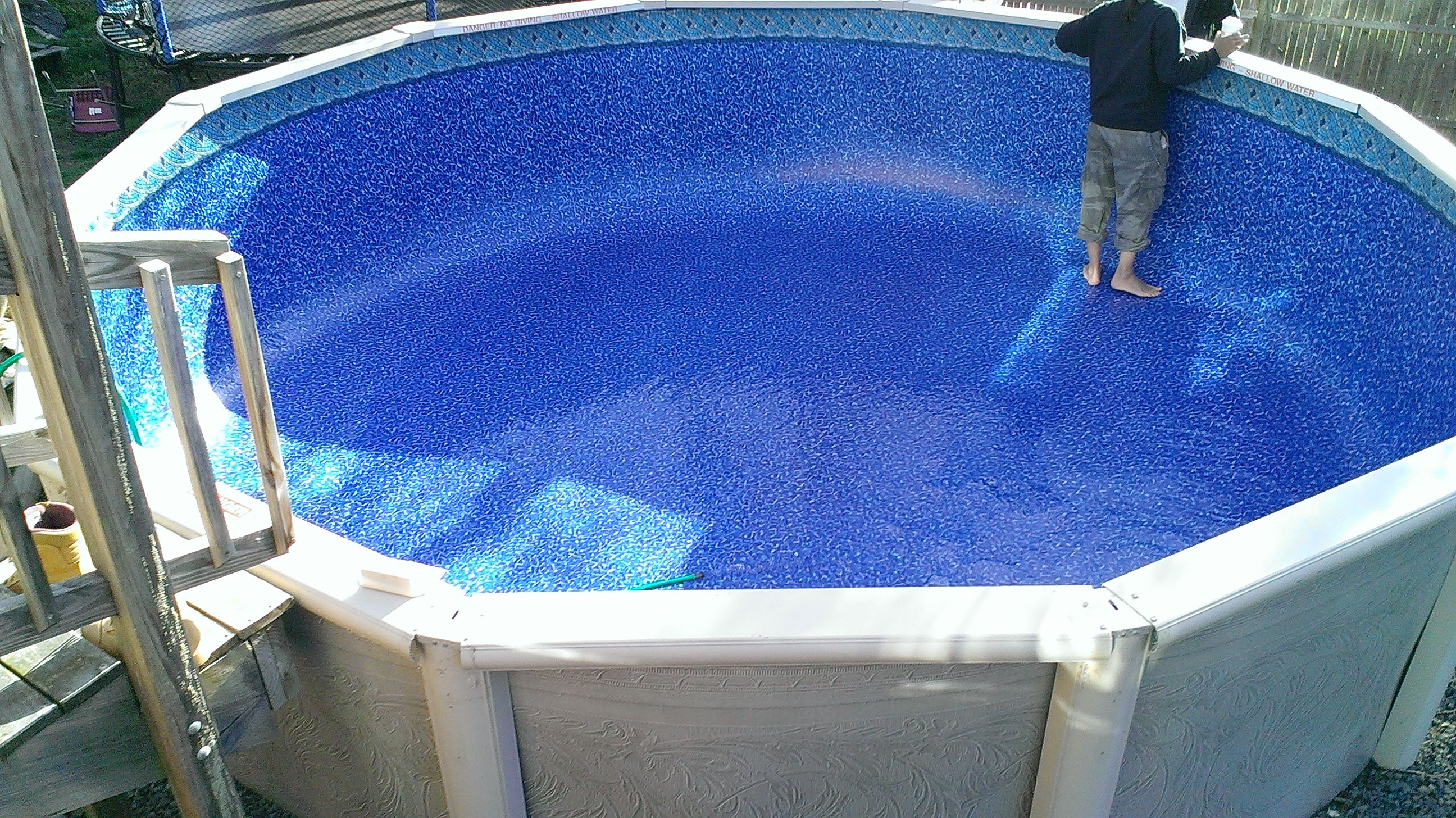 15ft round 25g princeton tile beaded liner http www for Swimming pool liners