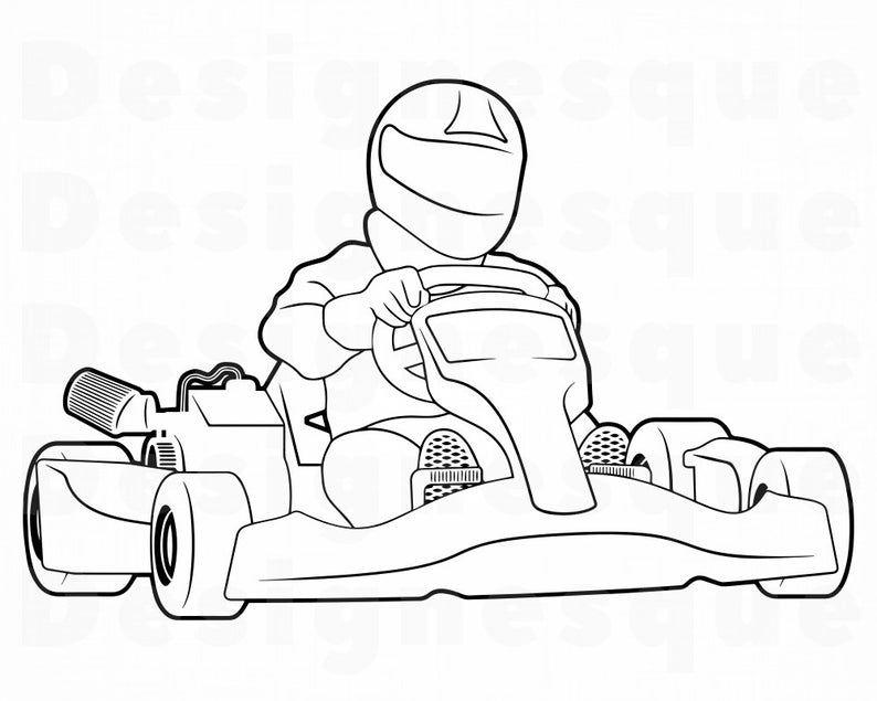 Go Kart Outline Svg Kart Racing Svg Go Kart Racing Svg Go Etsy In 2021 Go Kart Go Kart Racing Kart Racing