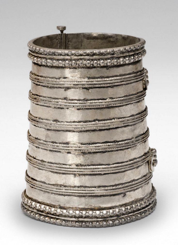 India   Silver cuff bracelet   19th century
