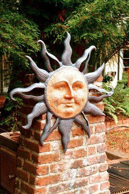 Outdoor Tree Face Decorations | Oversized Rising Sun Face Celestial Indoor Outdoor Garden Wall Plaque .  sc 1 st  Pinterest & Outdoor Tree Face Decorations | Oversized Rising Sun Face Celestial ...