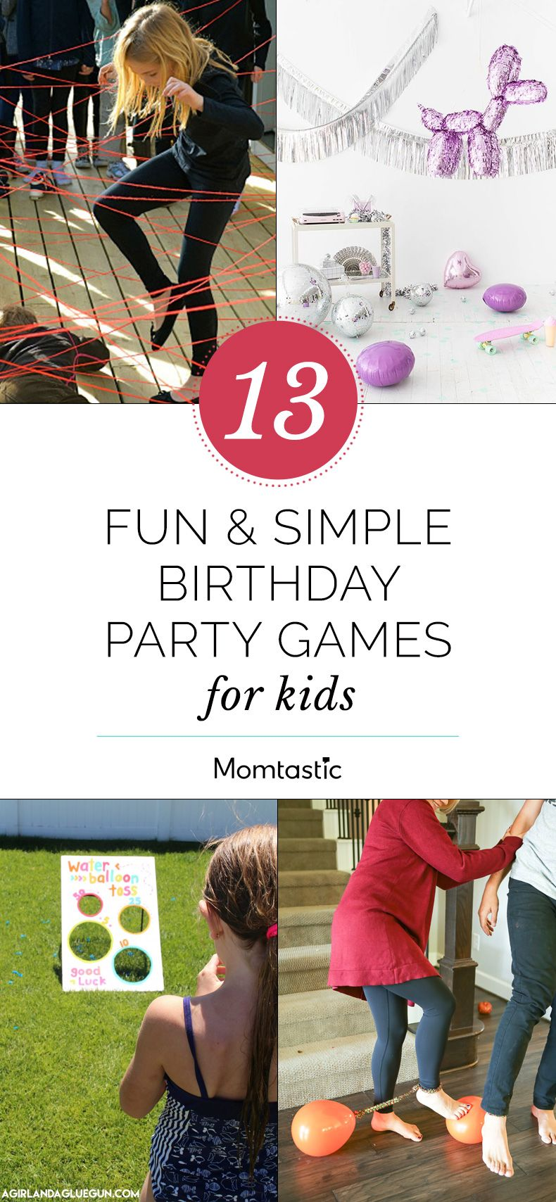 13 Fun & Simple Party Games For Kids | Birthday party games, Party ...