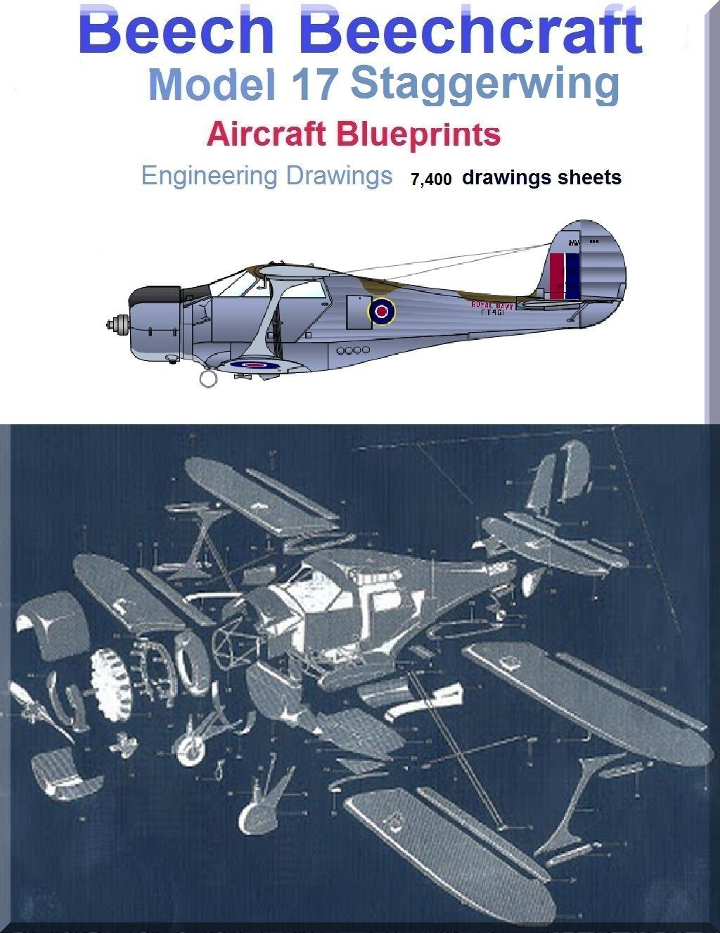 Beech model 17 staggerwing aircraft blueprints engineering drawings beech model 17 staggerwing aircraft blueprints engineering drawings 9 dvds malvernweather Choice Image