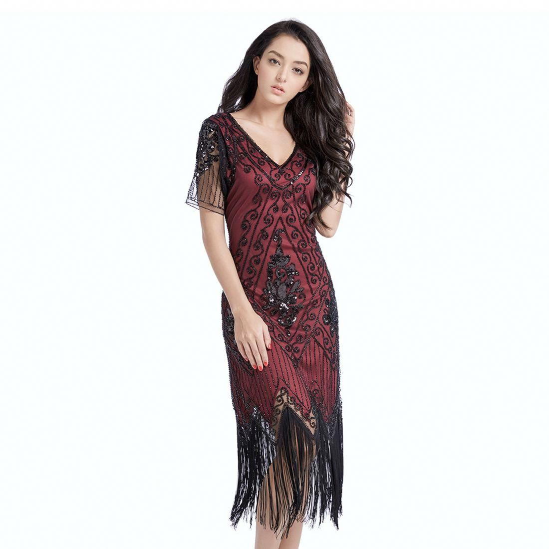 Red Flapper Dresses 1920-1970