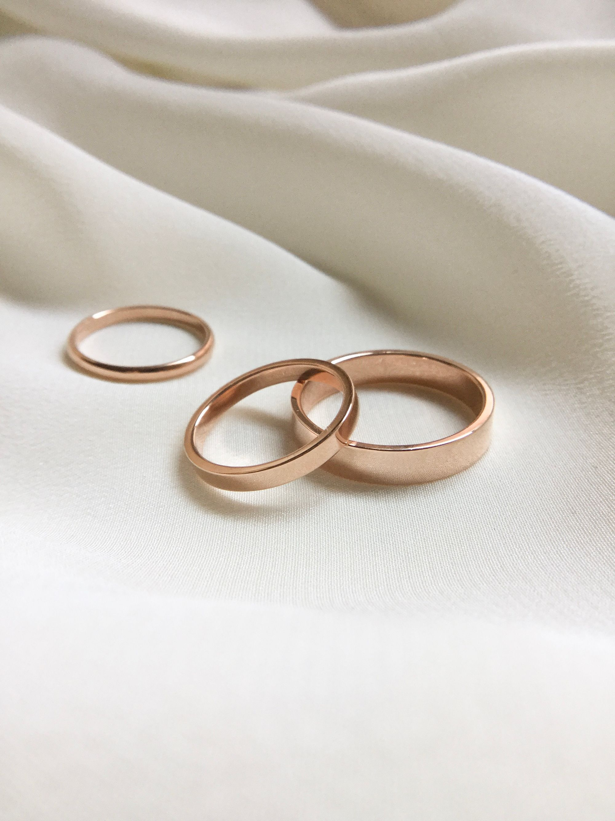 Flat Edge Band Wedding Ring Bands Ring For Boyfriend Cz Wedding Ring Sets