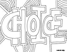 Word Coloring Pages and many more Doodles. Awesome site