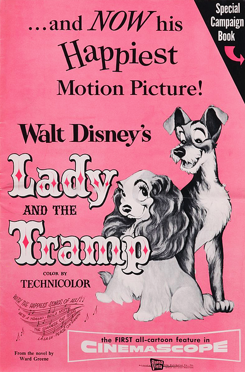 Disney S Lady And The Tramp 1955 Movie Posters Vintage Retro Disney Disney Movie Posters