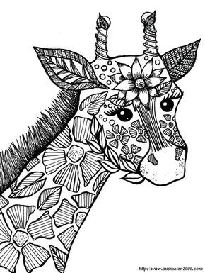 ausmalbild giraffe zum ausmalen | ausmalbilder