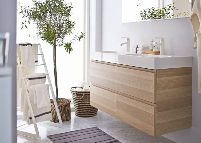 Godmorgon braviken 4 drawer cabinet and sink ikea badkamer