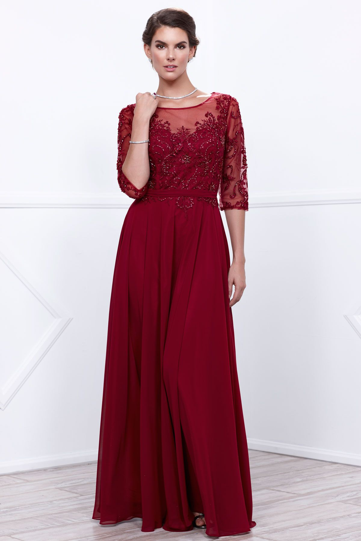 Mother of bride long gown nx cfashion