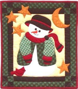 Snowman Quilt Pattern - I like the little red bird!   Christmas ... : snowman quilts - Adamdwight.com