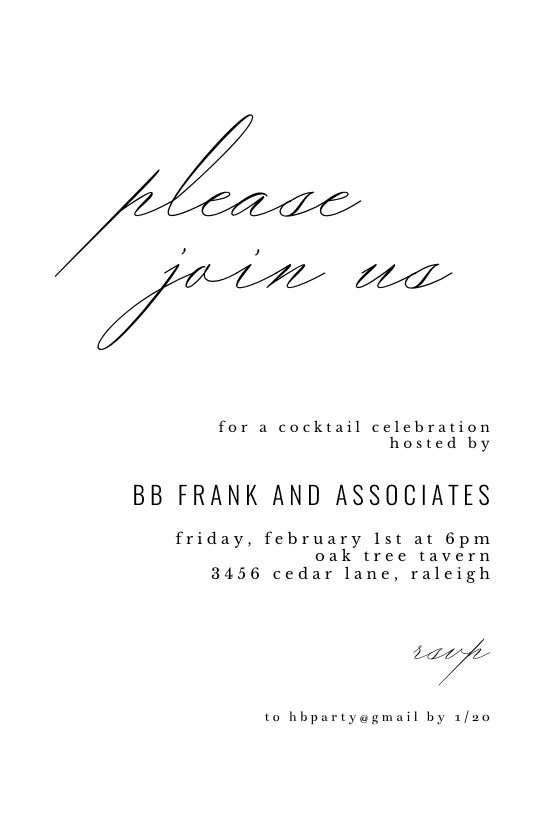 Please Join Us Cocktail Party Invitation Template Free Greetings Island In 2021 Cocktail Party Invitation Business Events Invitation Party Invite Template