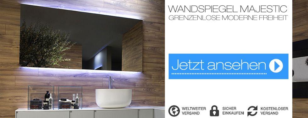 Der #Badspiegel Majestic ist ein Designelement das wirklich in - badezimmerspiegel nach mass