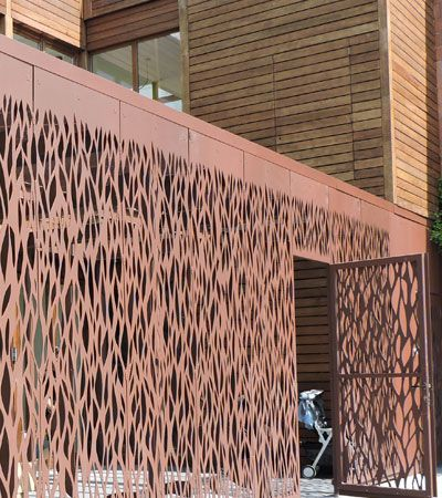 facade corten oxycoupage fa ade corten pinterest corten acier corten et claustra. Black Bedroom Furniture Sets. Home Design Ideas