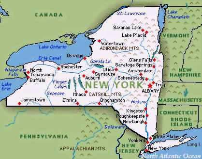 New York state map - Google Search | USA BUFFALO N.Y. | Map ...