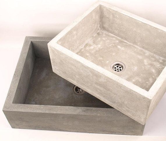 Medium Concrete Sink Ub2 Overtop Washbasin Unusual By Dekornia Terasa Pinterest Concrete