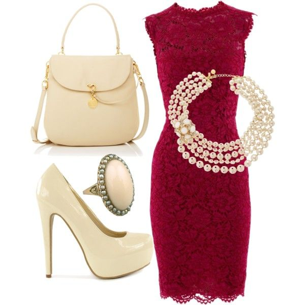 cab1d4ce3 Classy Outfit Maroon and Off White kerianndouglas.polyvore.com ...