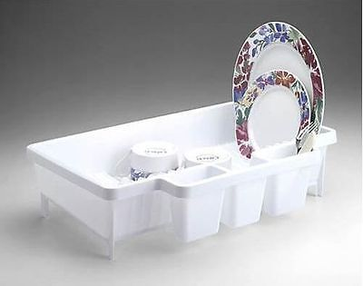 Rubbermaid 8354 00 Space Saver Dish Drainer Rack New White Hard To