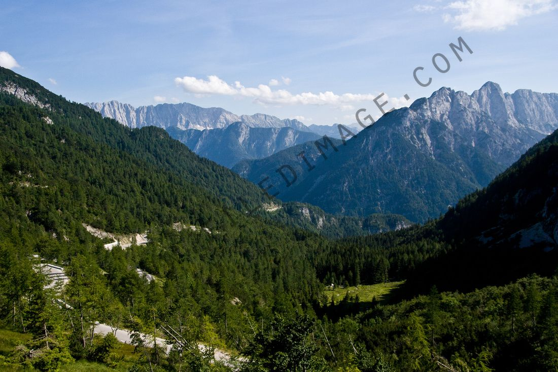 View from Triglav, the highest point in Slovenia