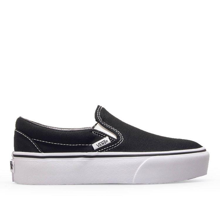 Vans Damen Sneaker Classic Slip On Black White Vans Damen Frauen Sneaker Sneaker