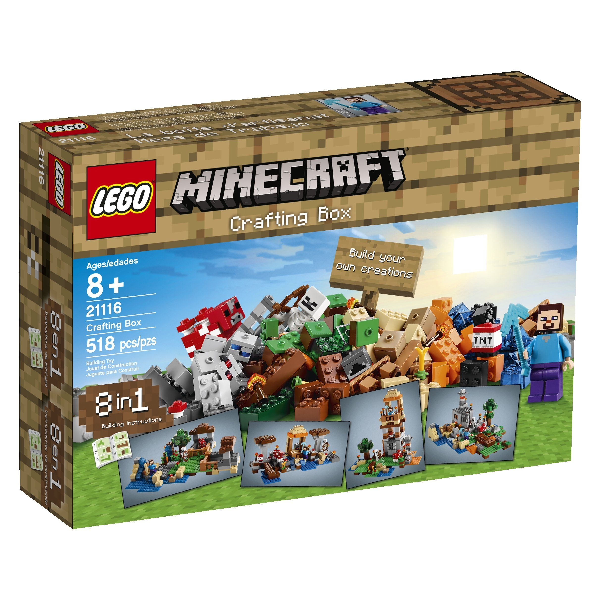 Lego Minecraft 21116 Crafting Box I Think This Would Be Great For Me To Have Rowan With Images Lego Minecraft Minecraft Crafts Craft Box