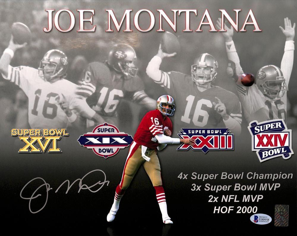 Joe Montana Autographed 11x14 Photo San Francisco 49ers