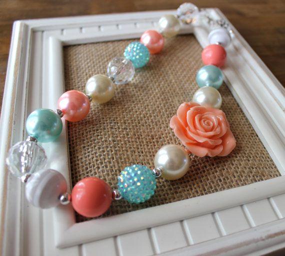 Gold Pearl Sweet grosses perles Bubblegum Collier Pour Enfants X-MAS Cadeau Gumball