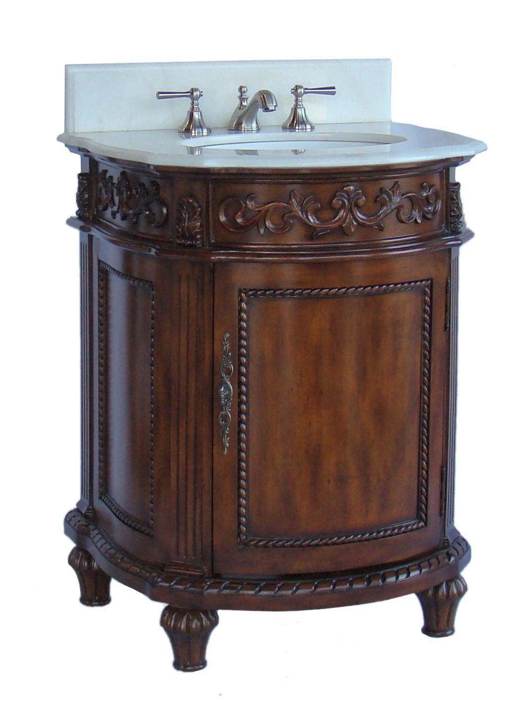 26 Inch Adelina Petite Bathroom Vanity Brown Mahogany Finish Diy