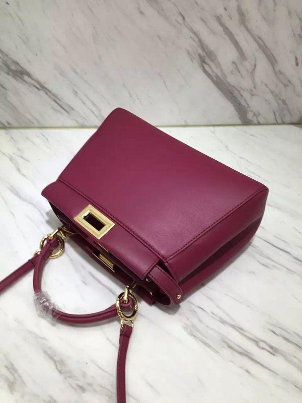 45175eb62c Fendi peekaboo burgundy mini shoulder bag  essential