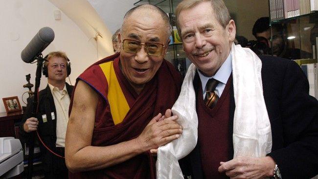 The Dalai Lama and Vaclav Havel