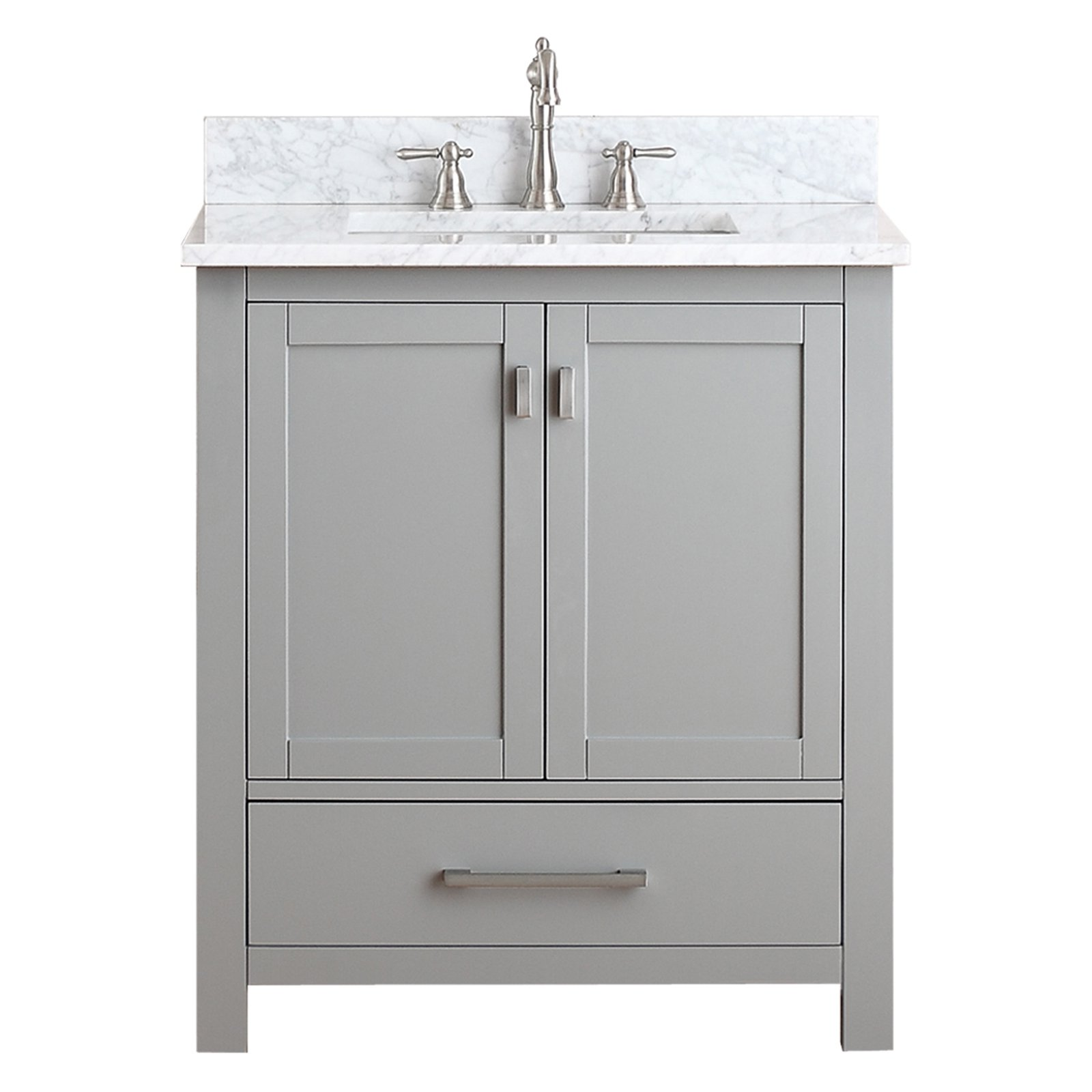 Avanity Modero Vs30 Cg Modero 30 In Single Bathroom Vanity Marble