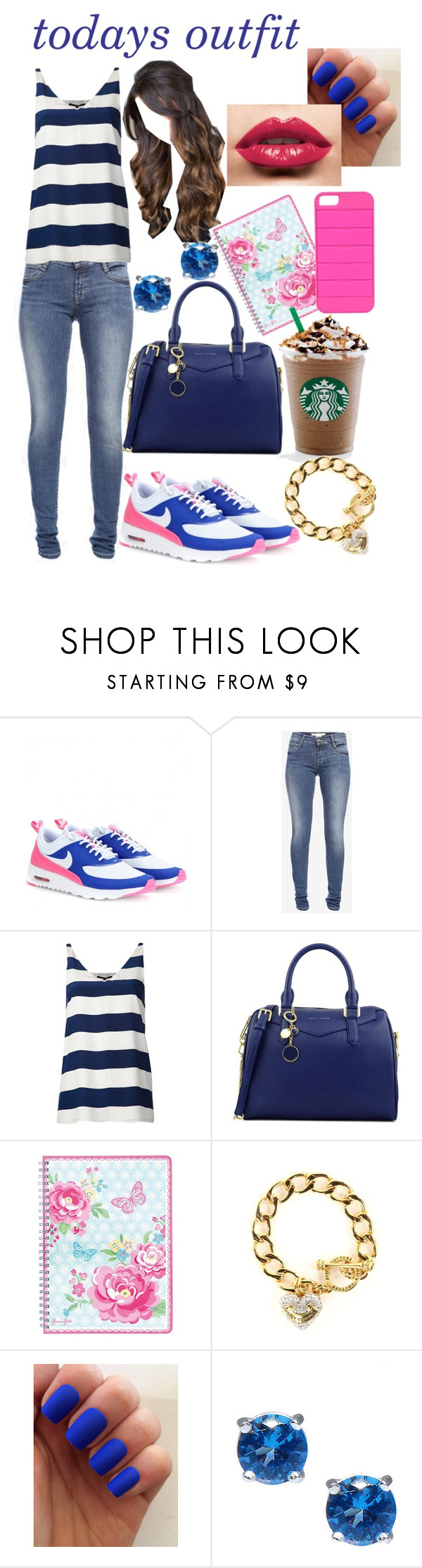"""""""todays outfit #4"""" by laurajessica ❤ liked on Polyvore featuring NIKE, French Connection, TIBI, CHARLES & KEITH, GreenGate, Juicy Couture, Moise and Triple C Designs"""