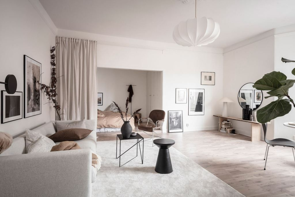 Living Room And Bedroom Combined Coco Lapine Design Home Bedroom Bedroom Decor Interior