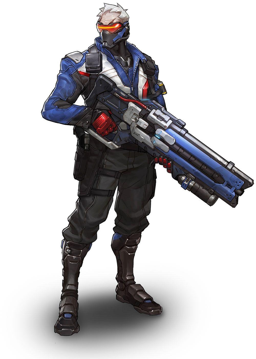 Soldier 76 From Overwatch Com Imagens Herois Overwatch