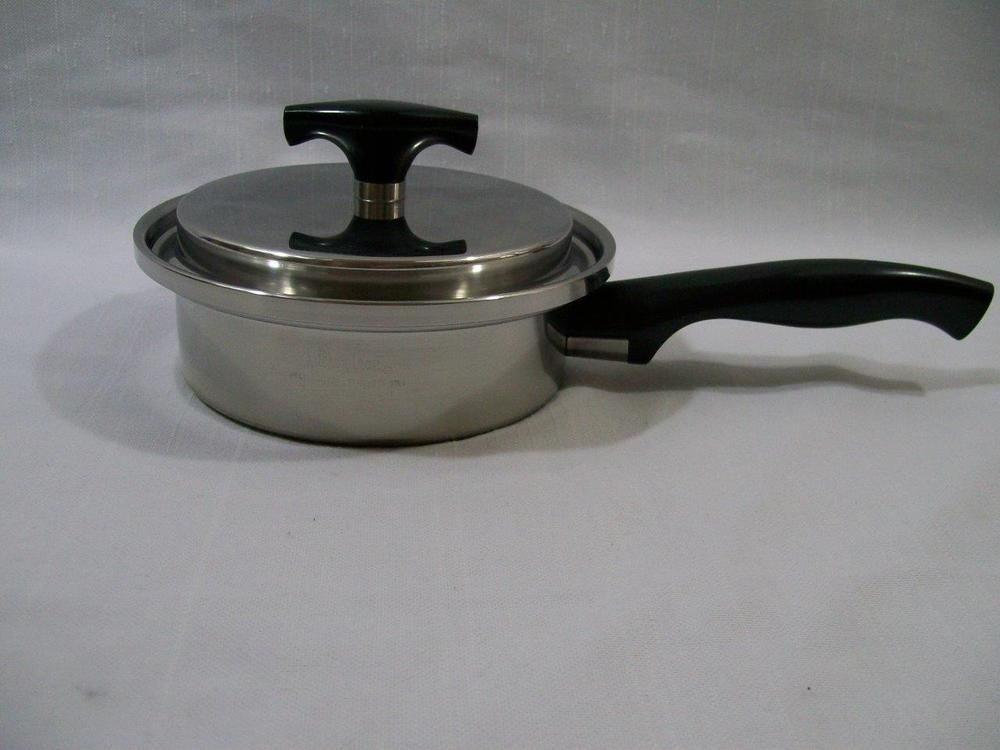 Kitchen Craft By West Bend 3 Ply Waterless Cookware Sauce Pan Lid