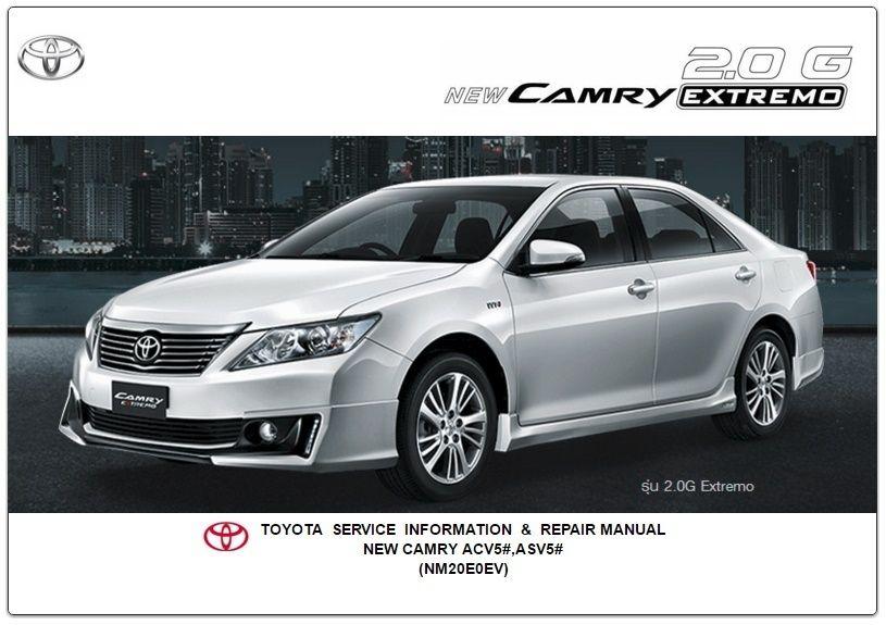 Atkinson Toyota Bryan >> Toyota New Camry Extremo Acv5 Asv5 Nm20eoev Service