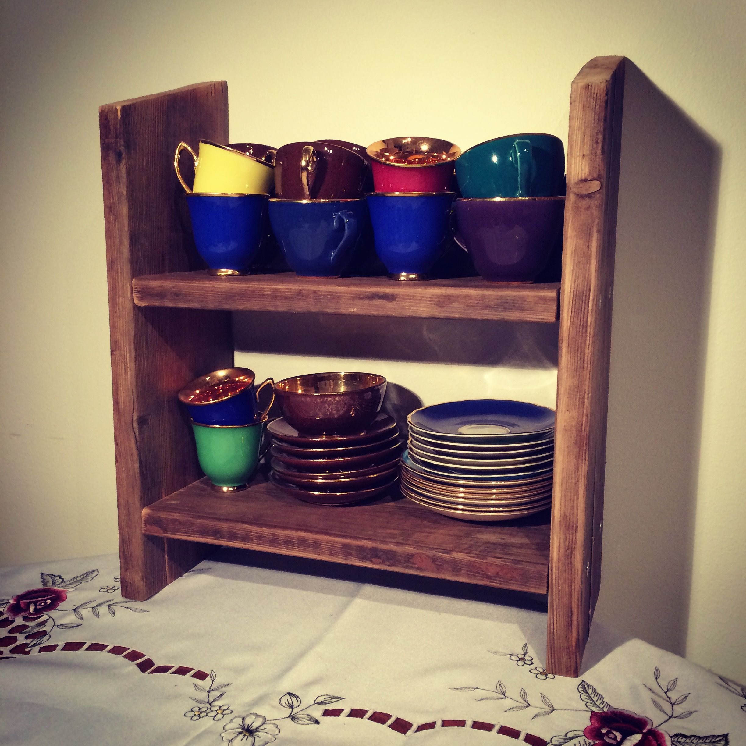 Shelves made from rescued wood