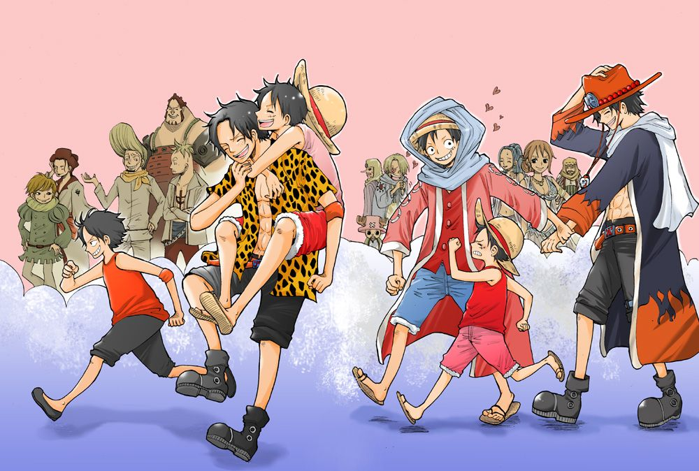 without regrets one piece comic ace and luffy one piece ace