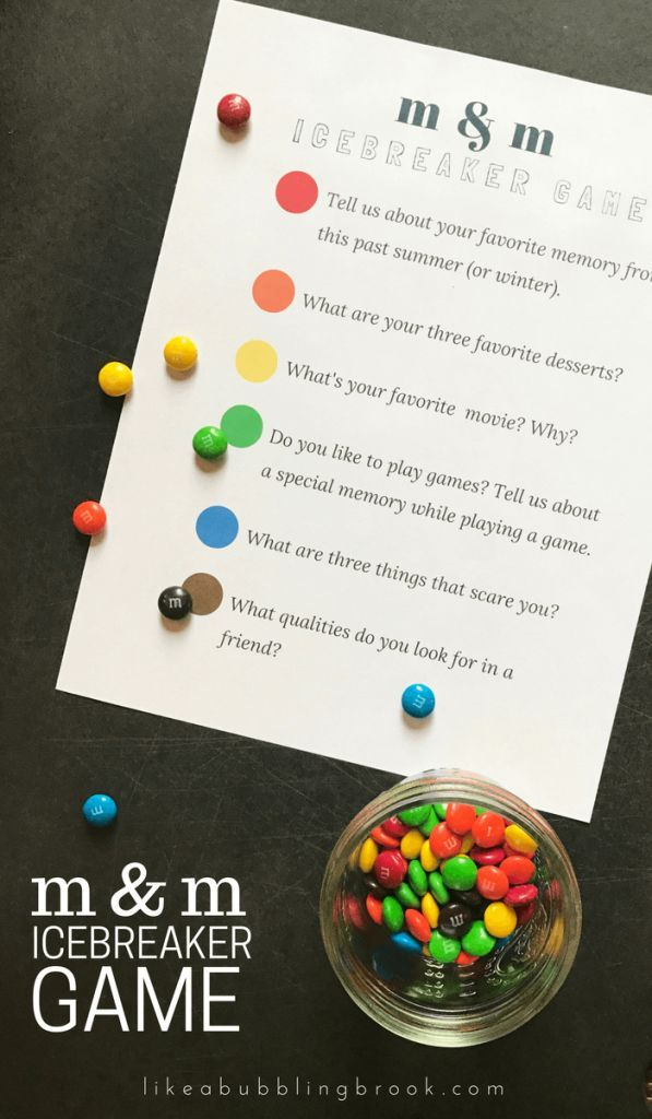 M&M Game Printable: Get To Know You Games Icebreaker | Fun
