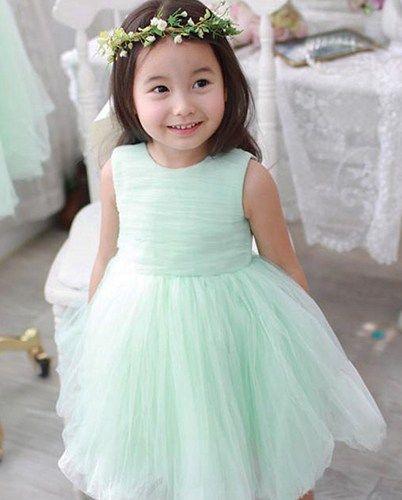 Mint Green Flower Girl Tulle Dress. Mint Wedding Toddler Girls Dress