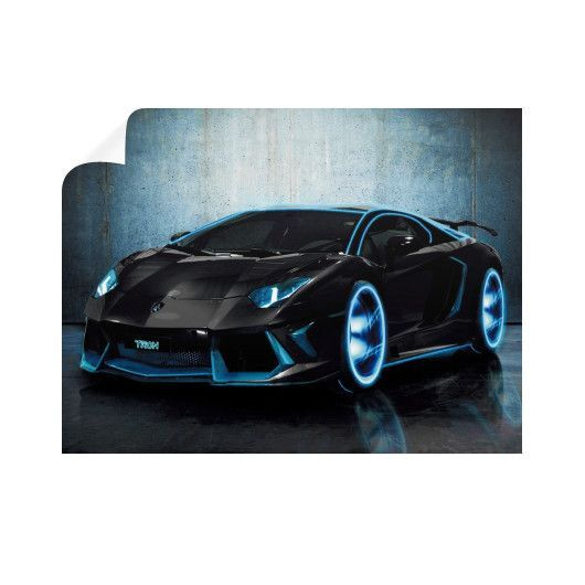 LAMBORGHINI TRON Horizontal Wall Decals