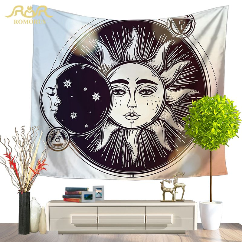 130*150 Blanket Indian Mandala Tapestry Blanket Moon Tapestry Wall Hanging Decor