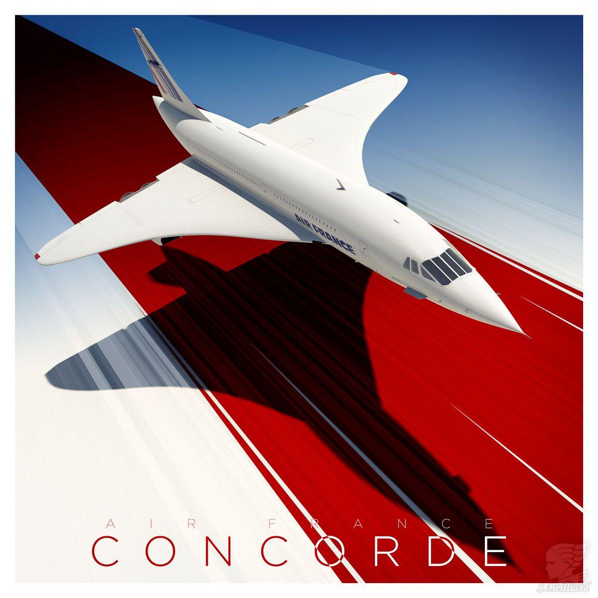 Concorde People Pop Art Limited Edition Signed Art Print Luxury Travel Aeroplane