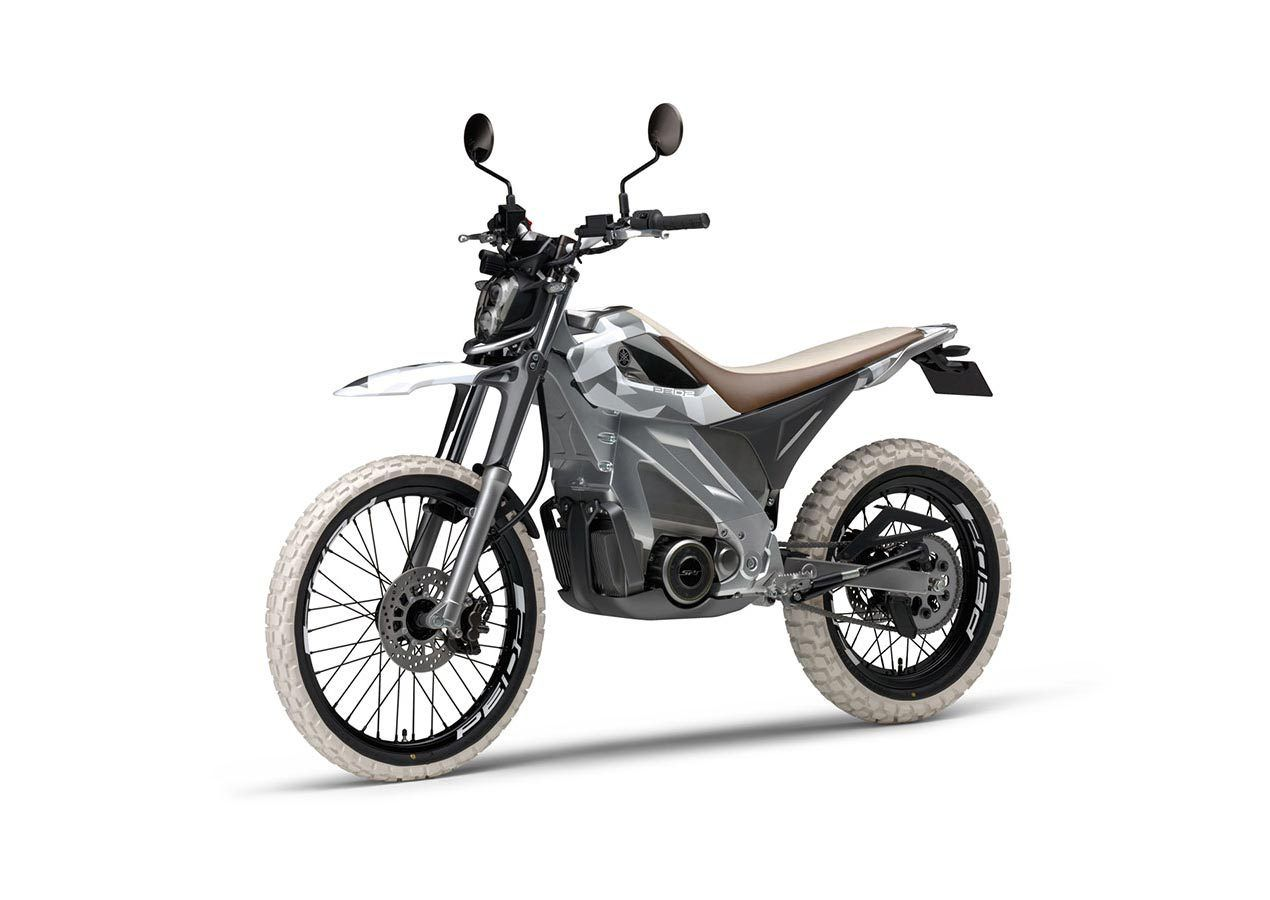 This Yamaha Electric Motorcycle Concept Is Two Wheel Drive
