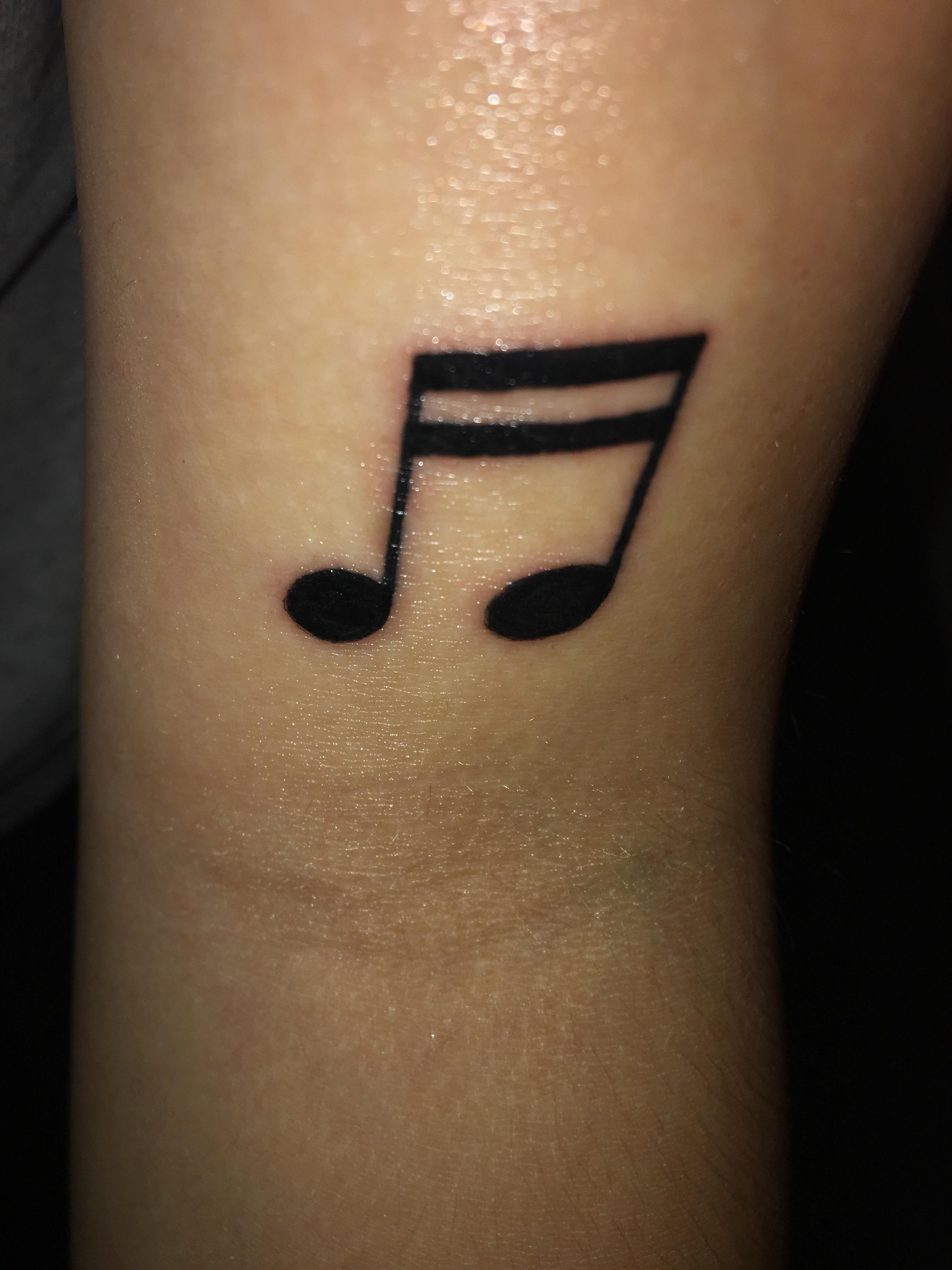 A pair of eighth notes one for me and one for my dad by Chris at