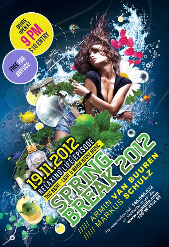 Spring Party Flyer Spring Party Flyer Template Httpwww Ffflyer