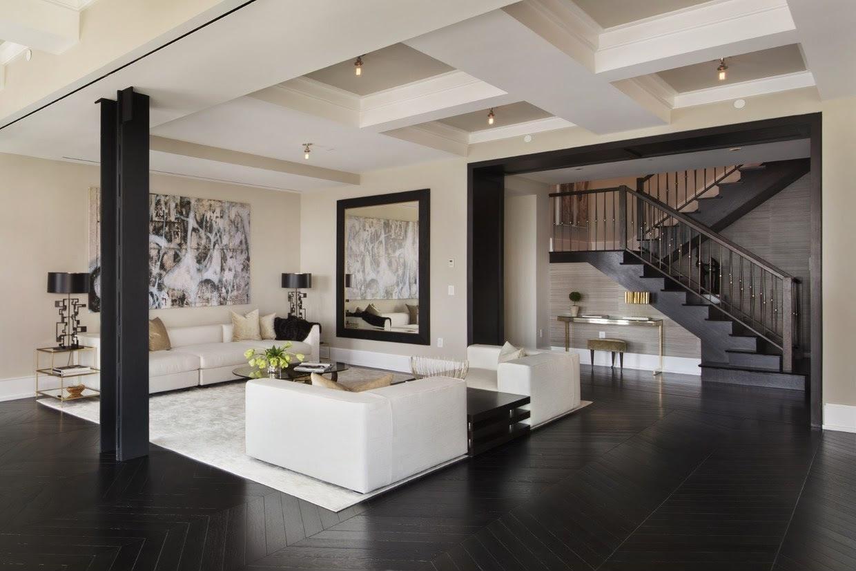 Kontrasztos modern nappali - nappali ötlet, modern stílusban ...