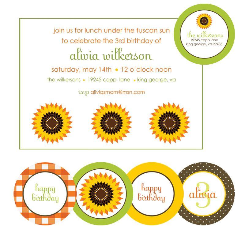 Under the Tuscan Sun Party invitations | Entertaining & Fun Nights ...