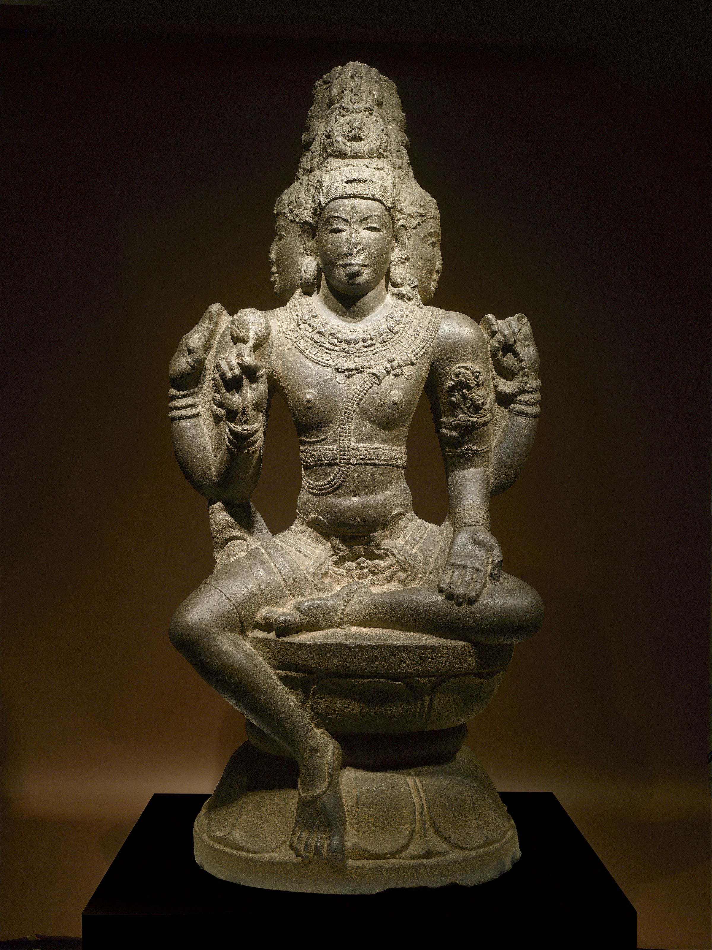 Statue Of Hindu God Shiva Purchased Auction