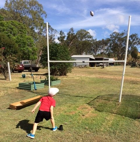 Regular Rugby Posts 3m Tall. The Backyard Regular Footy ...